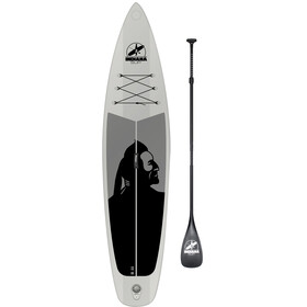 Indiana SUP 11'6 Family Board with 3-Piece Fibre/Composite Paddle grijs